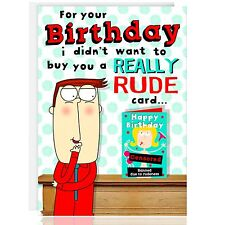 HAPPY BIRTHDAY Greetings Card - Funny Humour, Cheeky Rude, Bum