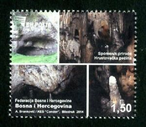 BOSNIA & HERZEGOVINA/2014, Natural monument - Hrustovo cave, MNH