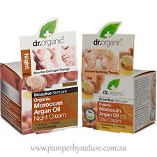 Dr Organic Moroccan Argan Oil Day & Night Cream Moisturising Duo Pack 2 x 50ml