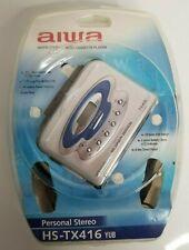 Aiwa Hs-Tx416 Am/Fm Stereo Radio Cassette Player Nos Super Bass Walkman