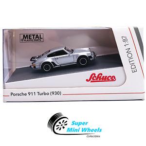 Schuco 1:87 HO Scale - Porsche 911 (930) Turbo (Silver) - Diecast Model