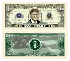 Pack of 25 - Donald Trump Commander In Chief 1 Million Collectible Dollar Bills
