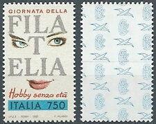 1992 ITALIA GIORNATA DELLA FILATELIA SINGOLO DA LIBRETTO MNH ** - ED