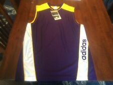 New W/Tags Blank Adidas Mens Xl Basketball Jersey Nba College Blue/Yellow