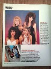 BANGLES / Replacements magazine PHOTO / Clipping  12x9 inches