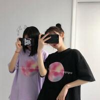 Womens Tshirt Korean Harajuku Print Tops O Neck Tees Casual Loose Fashion Tshirt