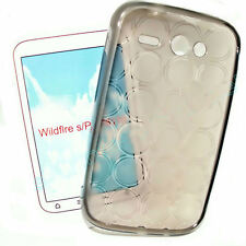 Silikon TPU Cover Case Handy Hülle Schutzhülle in Smoke für HTC Wildfire S