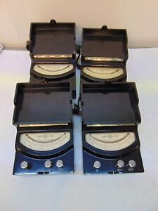 Lot Of 4 GE DC & DC Milliamperes, Microamperes  Meter  Type DP-9  S5610