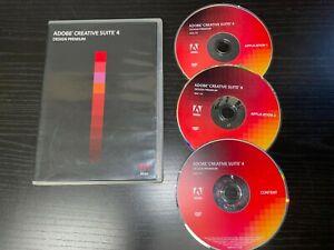 Adobe CREATIVE SUITE 4 CS4 Design Premium for Mac OS 90094936 w/ Serial Number