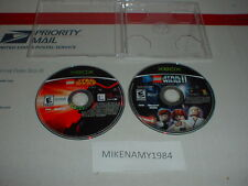 LEGO STAR WARS 1 & 2 both games disc only in case Microsoft XBOX