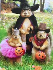 Avanti Greeting Card Happy Halloween Trick or Treat Squirrels in Costumes