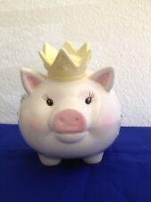 Mud Pie Little Prince Piggy Bank Boy Nursery Blue Star Newborn Christening Gift