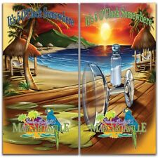 Margaritaville Cornhole Wrap Decals Bag Toss 3M Vinyl 24x48""