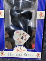 "Hamleys Boris Plush Jointed Black Bear Heritage Collection London UK 15"" NWT"