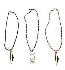 3 Palestine Flag Map Handalah Braided Necklace  Hanthala Palestinian Cord Rope