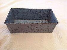 Bread Baking Pan Lustrous Enamelware Graniteware Gray Antique