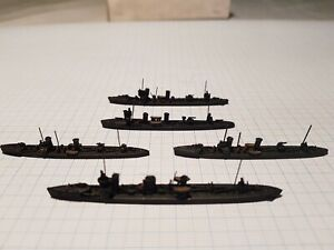 Neptun Destroyer NM61 & Torpedo boats 64/64a/67  German WWI waterline 1/1250 x 5