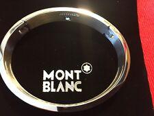 Montblanc Jewelry Sterling Silver Enamel Fountain Profile Stripe Bangle Bracelet