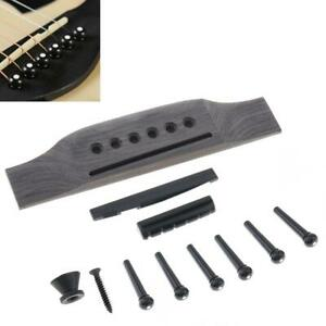 1 Set Rosewood Acoustic Guitar Bridge + Bridge Pins/Saddle/Nut Saddle Guitar