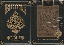 Gold Bicycle Playing Cards Poker Size Deck USPCC Custom Limited Edition Sealed