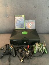 Tested - Microsoft Xbox Original Console, Two Controllers, Two Games.