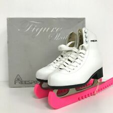 Freesport Skates Size Junior UK 2 Figure Skating Ice Lace Up Style White 351784
