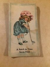 Vintage A Stitch In Time Saves Nine The Sun Life Insurance Co Needle & Pin Book