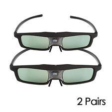 2 Pack SainSonic Rainbow 3D Glasses 144HZ Rechargeable for DLP Projector/ 3D TVs