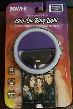 Iphone Bower Clip On Ring Light White Cell Mobile phone New Tags