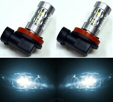 LED 50W H11 White 6000K Two Bulbs Head Light Low Beam Replacement Show Use