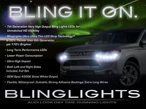 LED DRL Light Strips Daytime Running Lamps Kit for Mitsubishi Outlander & Sport