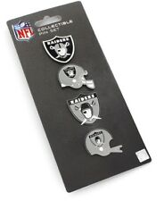 Oakland Raiders Logo NFL Football Evolution Collectible 4 Piece Pin Set