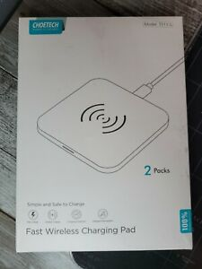 CHOETECH Wireless Charger 2 Pack 10W Max Qi-Certified Fast Wireless Charging Pad