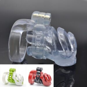 Natural Resin 3D Male PA-hook Chastity Lock Device Mens Chastity Belt Bird Cage