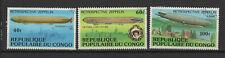 République du Congo 1977 Zeppelin 3 timbres oblitérés /T2406