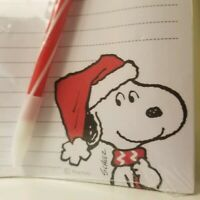 NEW Snoopy Note Pad 75 Sheets Magnetic HALLMARK Peanuts Christmas Santa