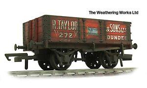 Oxford Rail 5 Plank Open stone / Coal wagon *PRO WEATHERED LOOK*
