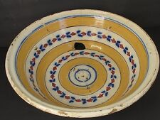Antique 18th c. Large French Faience Ceramic Bowl / Basin