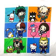Rare Hello Kitty & My Hero Academia Anime Cartoons Unisex Shirt XL Anime Japan