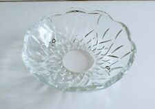 LAURA ASHLEY: CRYSTAL GLASS CUT BOBECHE/DRIP TRAY FOR CHANDELIERS