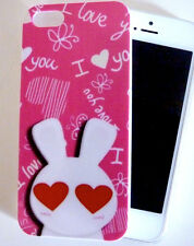 Handy Cover Bunny * Case* Schutzhülle*Handyschale* Herz* Häschen* iPhone 5*OVP*