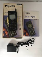 Phillips Aeon Digital TDMA-800 Mobile Cell Phone Black Vintage
