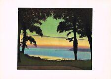 1940s Vintage Felix Vallotton Paysage Landscape Offset Litho Art Print