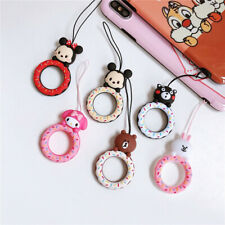 Cute donut Anti-lost Ring Buckle Holder Strap Rope for Cell Phones Airpods Case