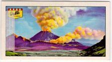 Volcanic Eruption Lava Volcano Ash Gas Magma Vintage Ad Trade Card
