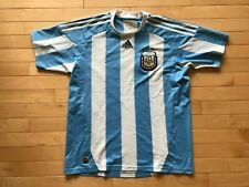 AFA Argentina Adidas Soccer Jersey Blue Striped Men's Sz L Climalite