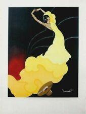 Original vintage print FLAMENCO DANCER & HAT SPAIN c.1950