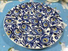 "Emma Bridgewater Blue Peacock 8.5"" Plate New Best Anniversary Backstamp"