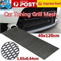 40cm x 120cm Universal Honeycomb Plastic Vent Black ABS Car Tuning Grill Mesh AU