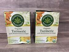 2 Organic Turmeric w/Meadowsweet & Ginger Herbal Tea -Damaged Box